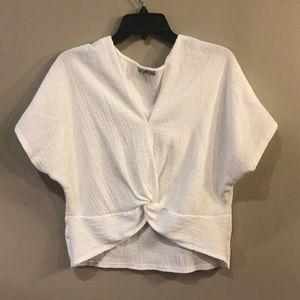Zara Wrap White Crop Top